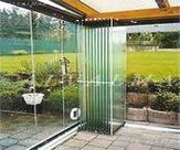 Cerramiento de aluminio sistema cortina de cristal, grandes vistas sin perfilería de aluminio