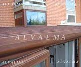 Cubierta de techo en cerramiento de aluminio instalado en Boadilla del Monte, Madrid