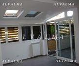 Cerramiento de aluminio con techo, osciloparalela y celosia como persiana, Valdemoro, Madrid