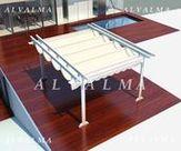 Pérgola de aluminio Mod. Doñana (Ref P-5)