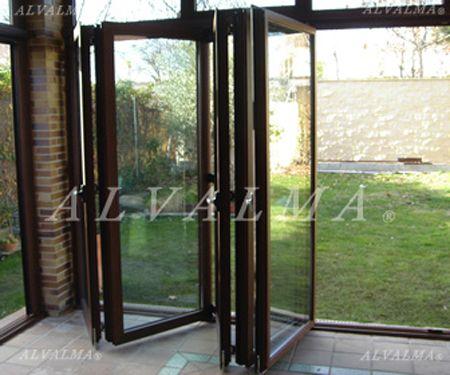 Ventanas puertas contraventanas de aluminio en madrid alvalma - Puertas plegables de aluminio ...